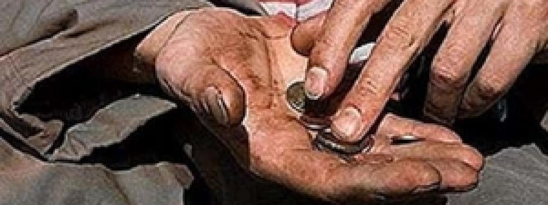 I poveri la moneta di Dio